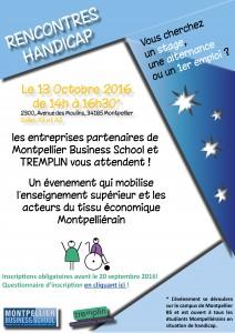 2016_Rencontres Handicap Jeunes Entreprises MontpellierBS_Tremplin